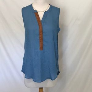 Anthropologie blue Sunday in Brooklyn top sz med